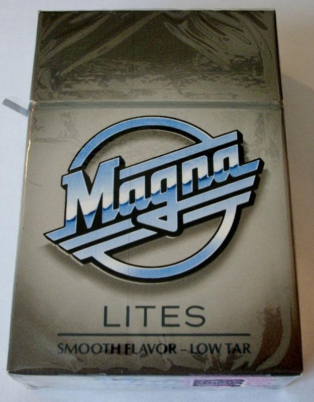 Magna Lites, King Size box - vintage American Cigarette Pack