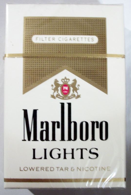 Marlboro Lights filter, King Size box - vintage American Cigarette Pack