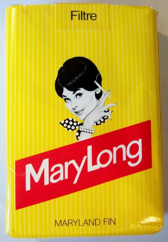 MaryLong Maryland Fin Filter - vintage Swiss Cigarette Pack