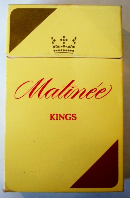 Matinée Kings - vintage Canadian Cigarette Pack