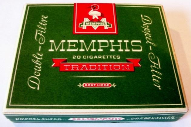 Memphis Tradition Double-Filter - vintage Swiss Cigarette Pack