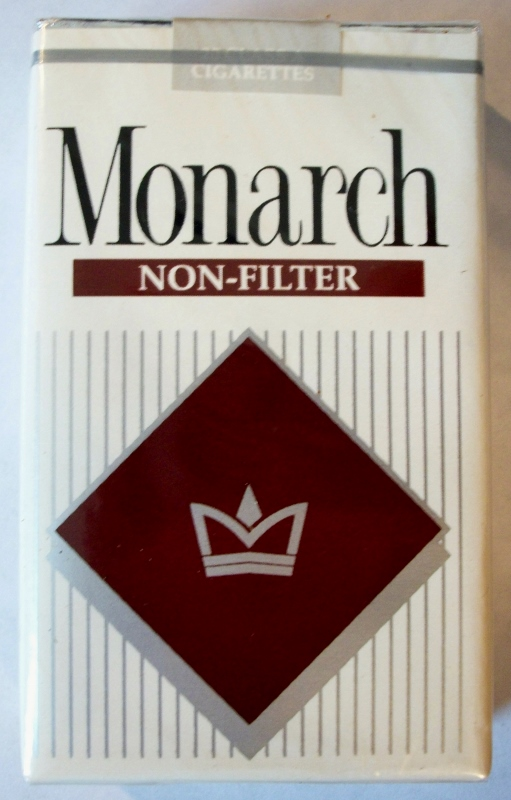 Monarch Non-Filter king size - vintage American Cigarette Pack