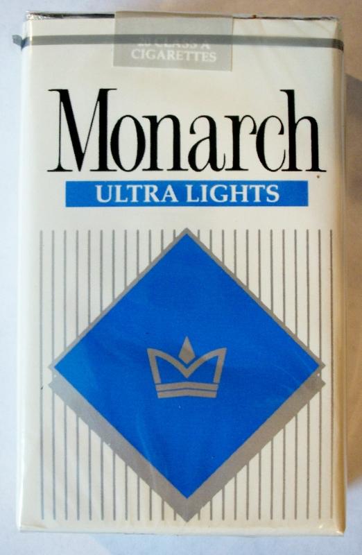 Monarch Ultra Lights king size - vintage American Cigarette Pack