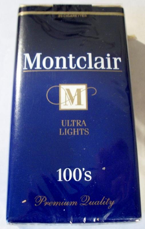 Montclair Ultra Lights 100's - vintage American Cigarette Pack