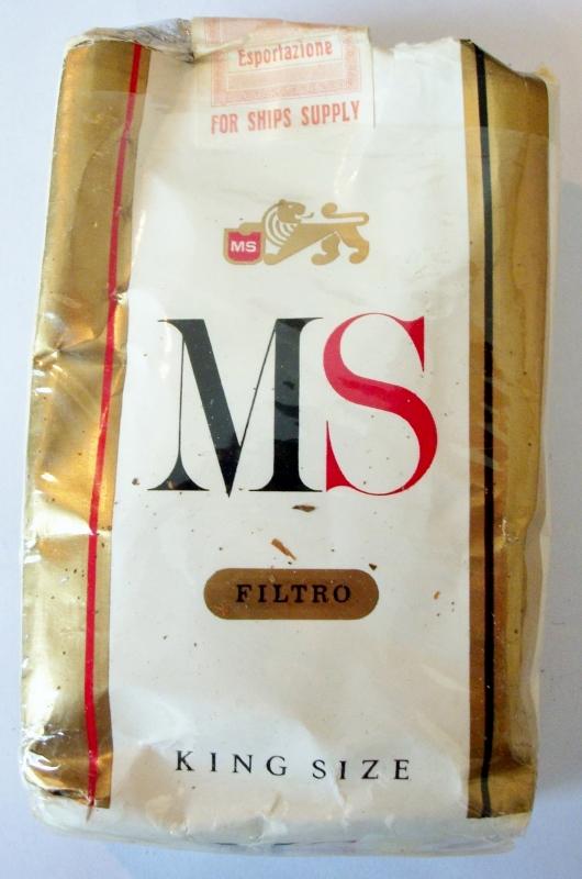 MS Filtro King Size export - vintage Italian Cigarette Pack