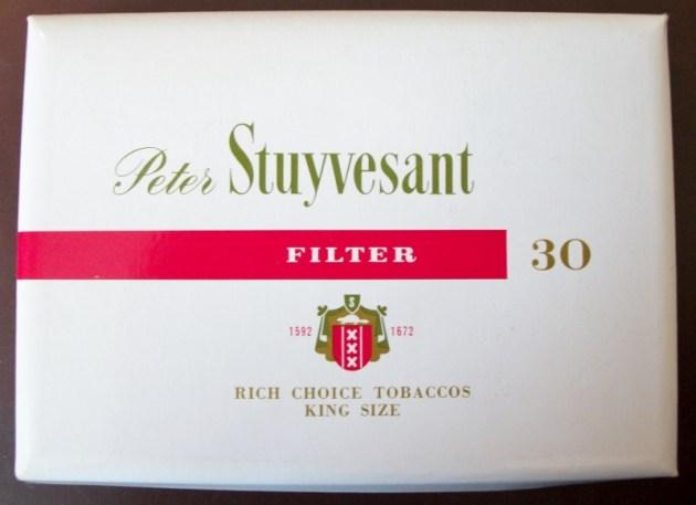 Peter Stuyvesant filter 30-pack king size - vintage South African Cigarette Pack