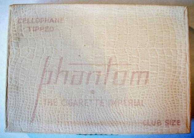Phantom The Cigarette Imperial Club Size 1951 - vintage American Cigarette Pack