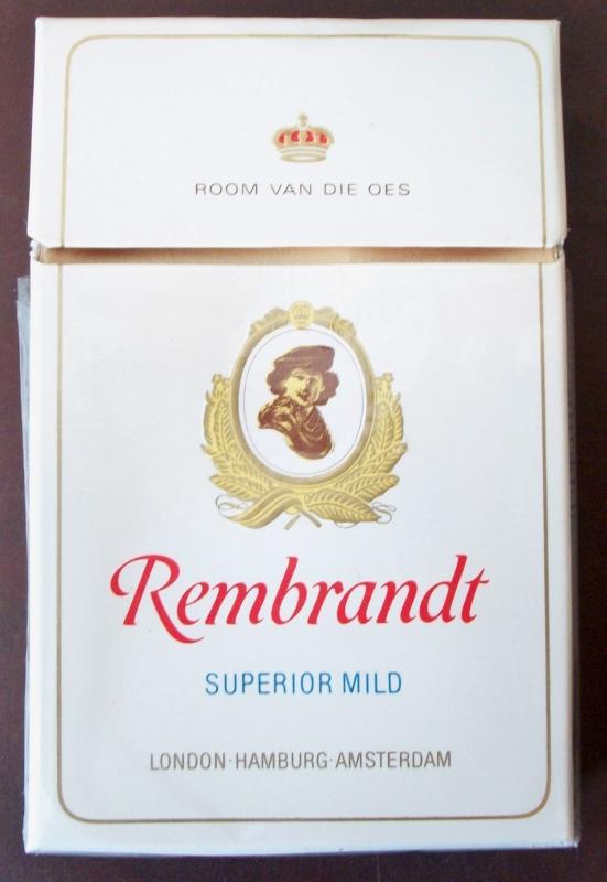 Rembrandt Superior Mild - vintage South African Cigarette Pack