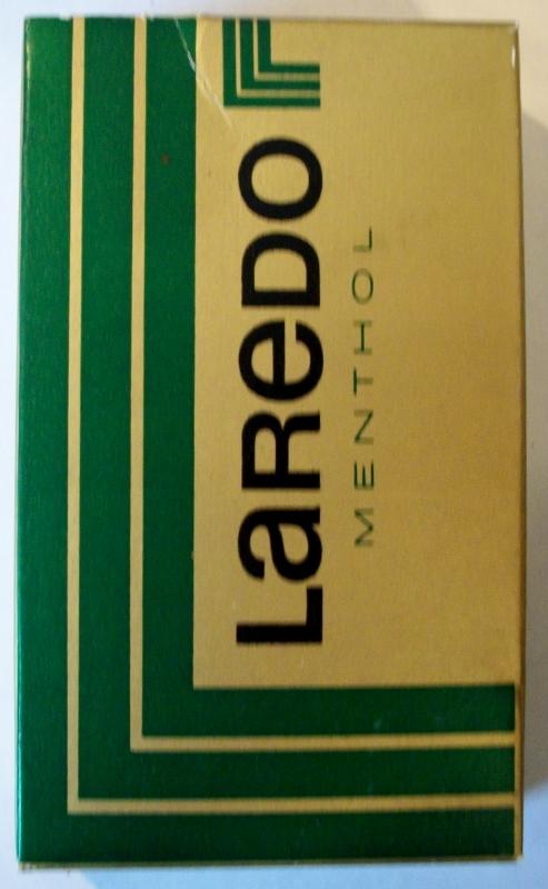 Laredo Menthol, king size box - vintage Cigarette Pack