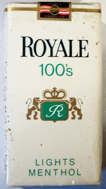 Royale Lights Menthol 100's - vintage American Cigarette Pack