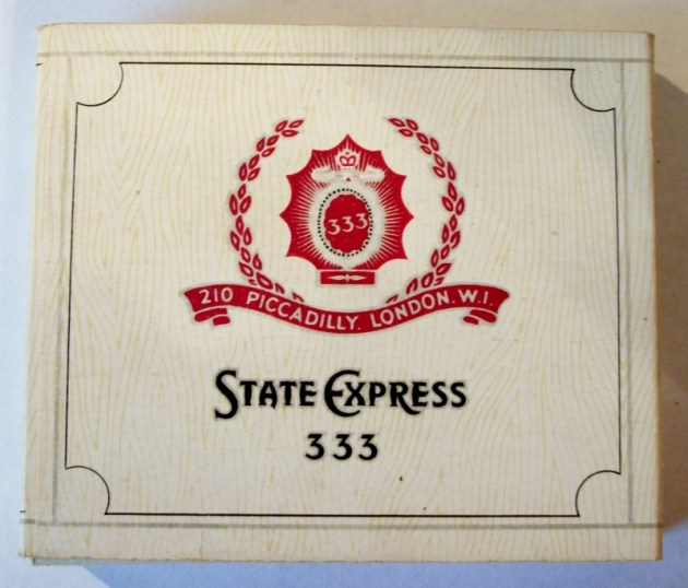 State Express 333 'Three Threes' 70mm - vintage English Cigarette Pack
