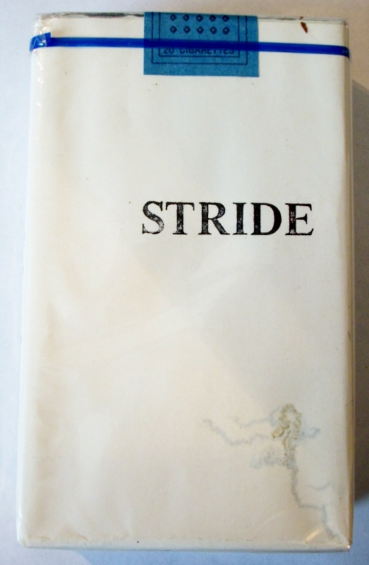 Stride, King Size - vintage Trademark Cigarette Pack