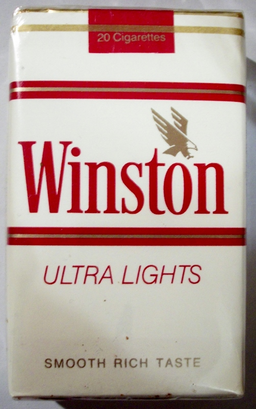 Winston Ultra Lights - vintage American Cigarette Pack