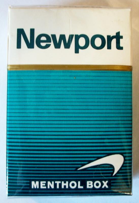 Newport Menthol Box, King Size - vintage American Cigarette Pack
