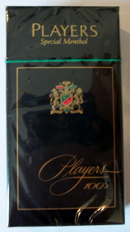 Players Special Menthol 100's box - vintage American Cigarette Pack