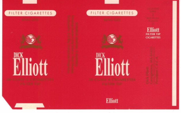 Dick Elliott Filter Tip King Size - vintage American Cigarette Pack