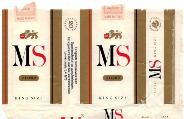 MS Filtro King Size - vintage Italian Cigarette Pack