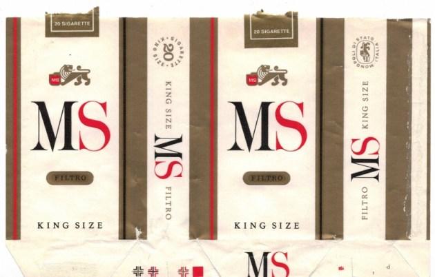 MS Filtro King Size - vintage American Cigarette Pack