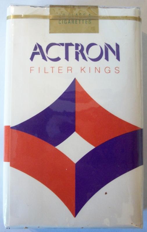 Actron Filter Kings - vintage American Cigarette Pack