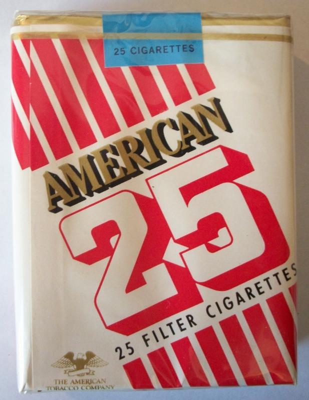 American 25-pack Filter, king size - vintage Cigarette Pack