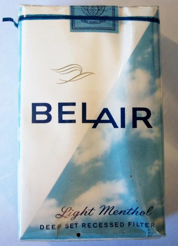 Belair kings Light Menthol - vintage American Cigarette Pack