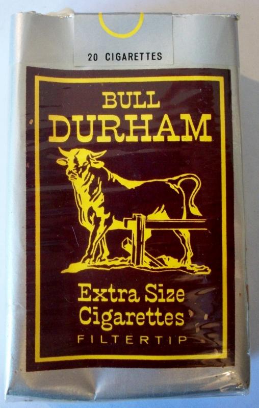 Bull Durham 1966-70 extra size filter tip - vintage American Cigarette Pack