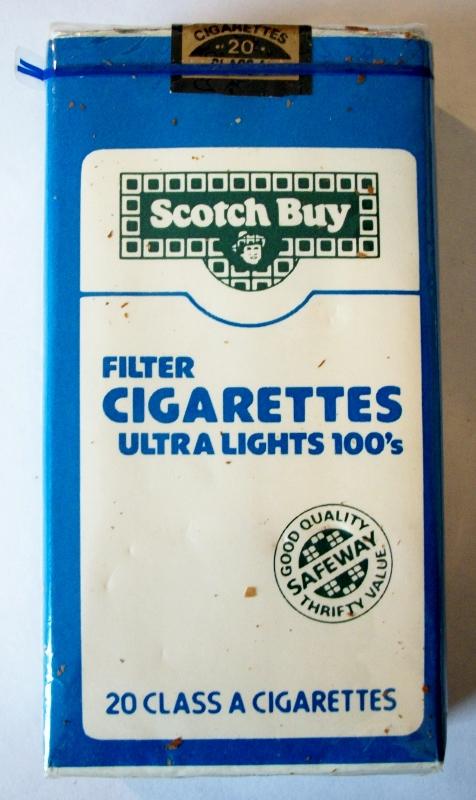 Scotch Buy Safeway Filter Ultra Lights 100's - vintage American Cigarette Pack