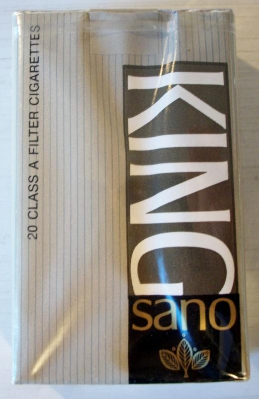 King Sano Filter - vintage American Cigarette Pack