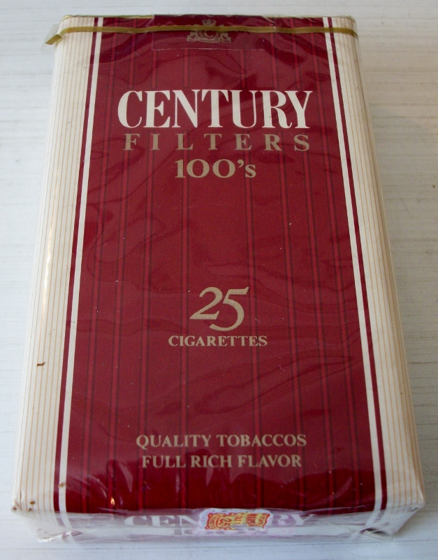 Century Filters 25-pack 100s - vintage American Cigarette Pack