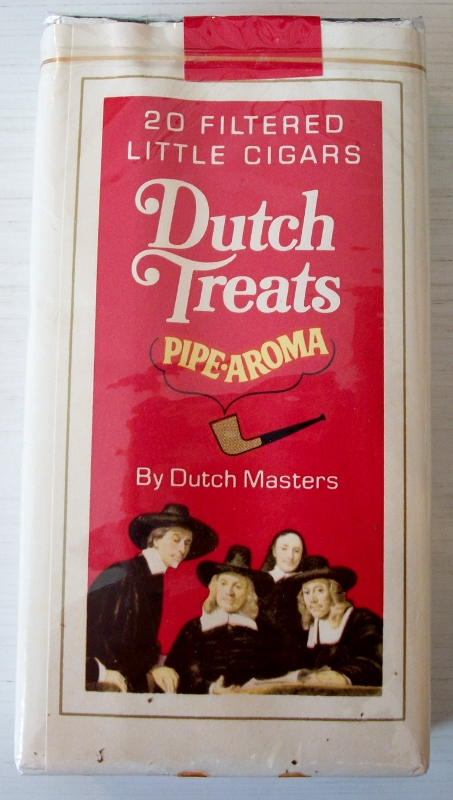 Dutch Treats Pipe-Aroma little cigars - vintage American Cigarette Pack