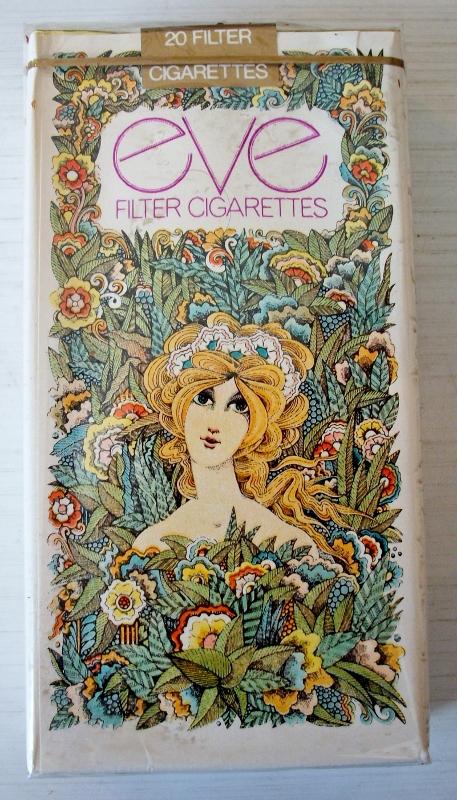 Eve Filter 100s - vintage American Cigarette Pack