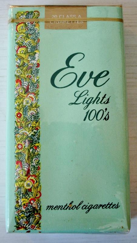 Eve Lights 100s menthol - vintage American Cigarette Pack