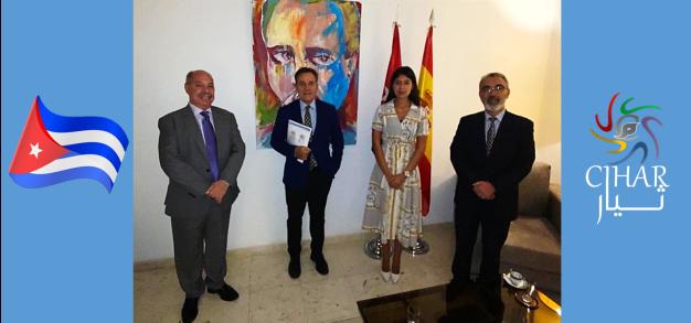 Cabecera visita embajada de Cuba