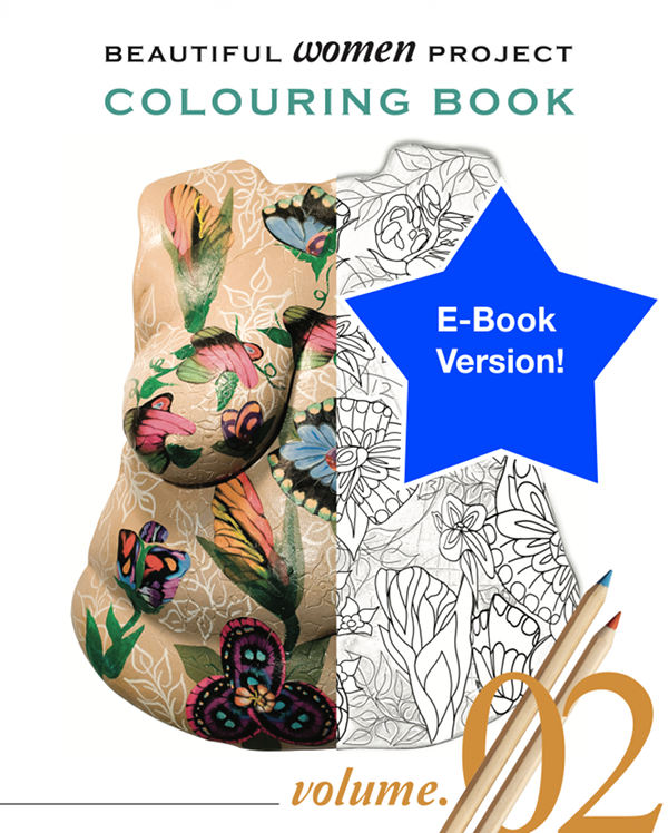 Beautiful Women Project Colouring Book – Volume 2 (E-book)