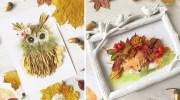 Величезна добірка цікавих осінніх аплікацій із листочків