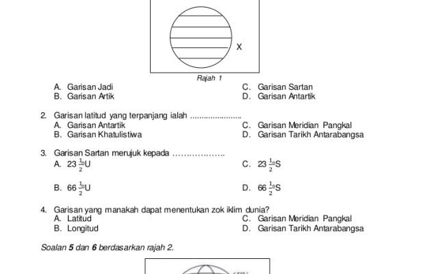 Soalan Peperiksaan Pertengahan Tahun Geografi Tingkatan 2 Kssm Persoalan P