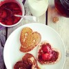 valentine, low carb pancakes