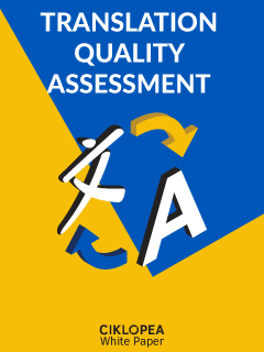 Translation Quality Assessment white paper by Ciklopea