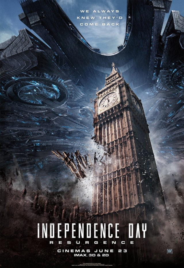 Poster yang di promosi di media barat | Independence Day : Resurgence