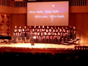 Janels xmas choir performance