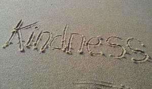 kindness on the beach