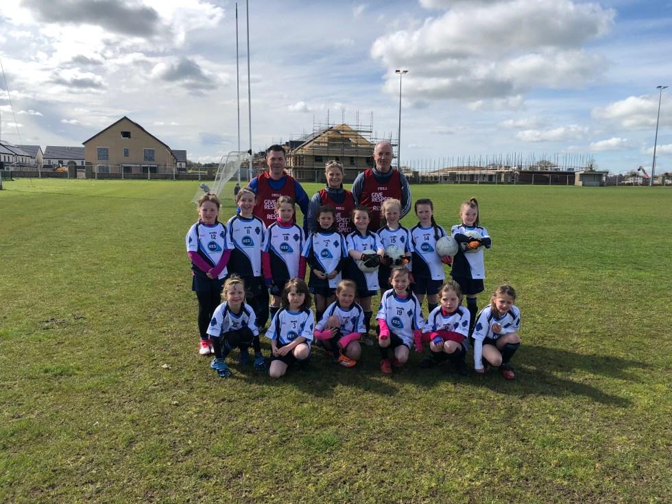 Under 8 Girls in their first little ladies league game in Ashbourne