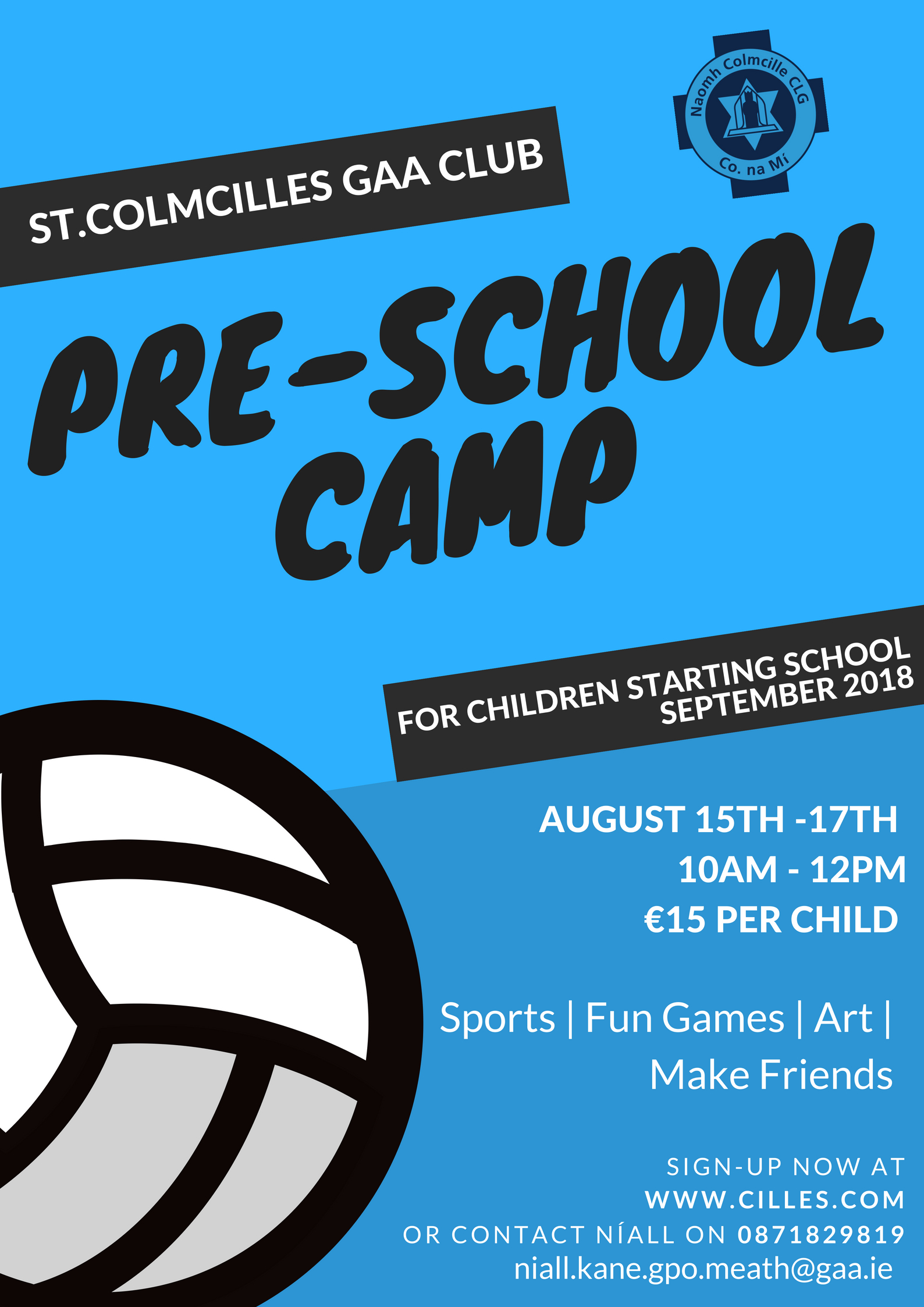 Pre-School Football Camp