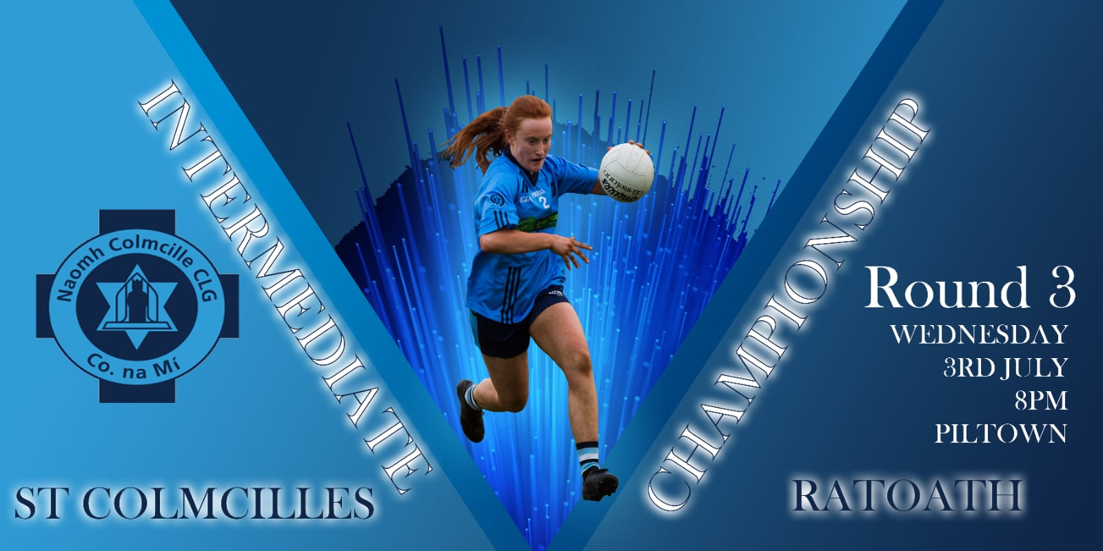 In the battle of the blues St Colmcilles A lose to Ratoath in Intermediate Championship Round 3, Piltown 3/3/19
