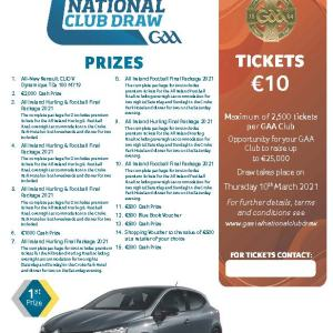 2021 National Draw Tickets