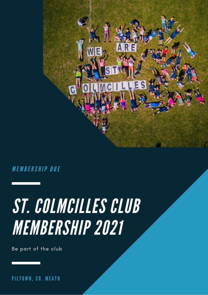 St. Colmcilles Club membership 2021