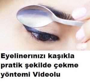 Kaşıkla eyeliner nasıl çekilir