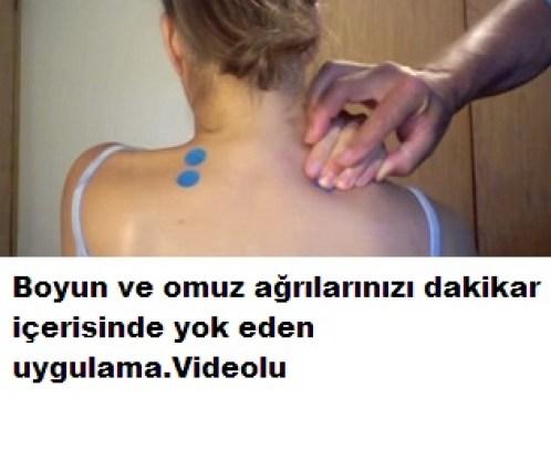 Boyun omuz ağrılarını gideren uygulama