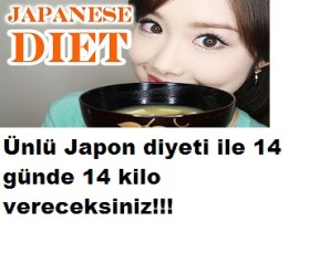 JAPON DİYETİ İLE 14 GÜNDE 14 KİLO VERİN