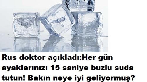 HER GÜN 15 SANİYE BUZLU SU UYGULAYIN